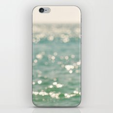beach. bokeh sparkle, ocean. La Mer iPhone & iPod Skin