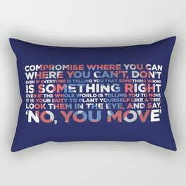 Civil War Quote Rectangular Pillow