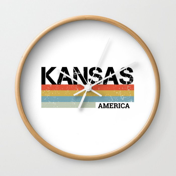 Kansas Design Gift & Souvenir For Kansas Print Wall Clock