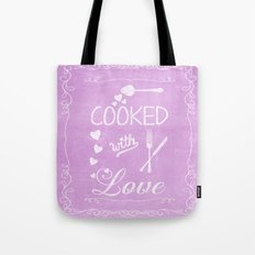 Cooked with love chalkboard sighn Tote Bag