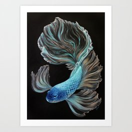 Little BetaBlue Art Print