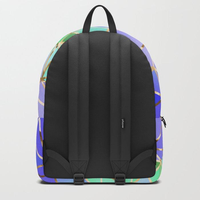 Rainbow Geometric pattern #3 Backpack