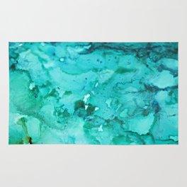 Abstract Aqua Rug