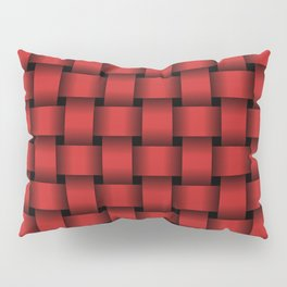 Firebrick Red Weave Pillow Sham