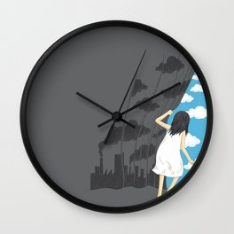 Hey Mr. Blue Sky Wall Clock