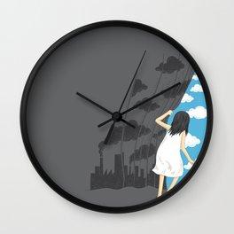 Hey Mr. Blue Sky Wall Clock