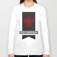 daenerys targaryen Long Sleeve T-shirts featuring House Targaryen Sigil V2 by P3RF3KT