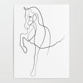 Horse Line Art Poster