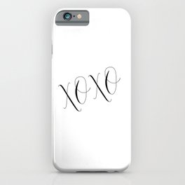 PRINTABLE Art, XOXO, Gossip Girl, Love Quote,Love Sign, kisses Print, Gift For Her, Gift For Him,Wal iPhone Case