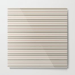 Beige Stripes Metal Print