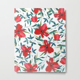 Red Blossom #society6 #decor #buyart Metal Print