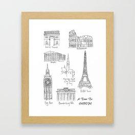 Europe at a glance Framed Art Print
