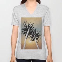 Cali Summer Vibes Palm Trees #1 #tropical #decor #art #society6 Unisex V-Neck