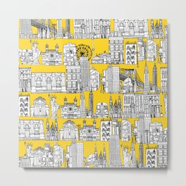 New York yellow Metal Print