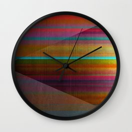 """""""Architecture, Colorful Rainbow"""" by Mar Cantón Wall Clock"""