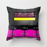 disco Throw Pillows featuring Disco by Littlebell