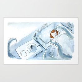 The monster underneath the bed Art Print