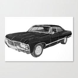 '67 Chevy Impala (w/o background) Canvas Print