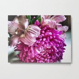 Alstromeria and Dahlia Bouquet Metal Print