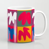 matisse Mugs featuring M for Matisse by CHOCOLORS