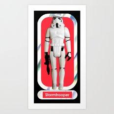 Stormtrooper : Vintage Kenner action figure Smaller Size Art Print