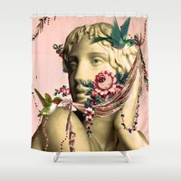 swag Shower Curtains featuring SWAG by Julia Lillard Art