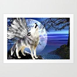 Wolf Song Art Print
