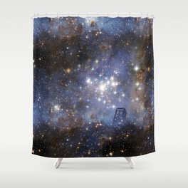 Adventures in Time and Space Shower Curtain