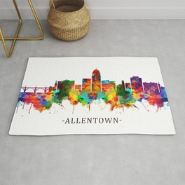 Allentown Pennsylvania Skyline Rug