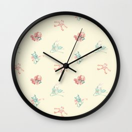 Vintage Baby Toys Toss in Light Lemon Chiffon Wall Clock