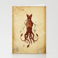kraken Stationery Cards featuring Kraken by Laurence Andrew Page Illustrator