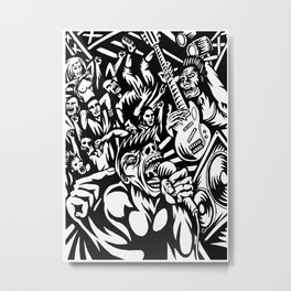Illustration of Rock Concert Metal Print