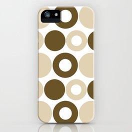 Brown Circles, Tan Dots, Pattern, Digital Design iPhone Case