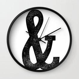Vintage Letter Pressed Ampersand Skinny Wall Clock