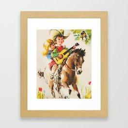 Little Cowboy Framed Art Print