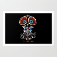 mexican Art Prints featuring Mexican Owl by Msimioni