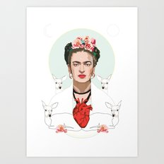 Frida Kahlo (Light) Art Print