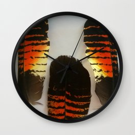 Feathers Black Red Tailed Cockatoo Wall Clock