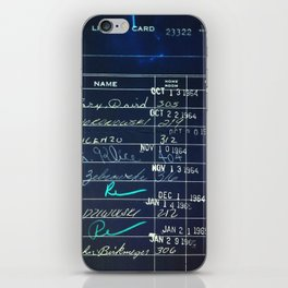 Library Card 23322 Negative iPhone Skin