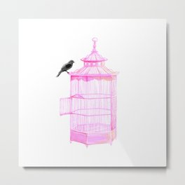 Brooke Figer - PRETTY smart BIRD Metal Print