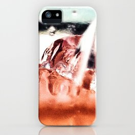 melting ice in a glass iPhone Case