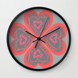 4 Love hearts Wall Clock