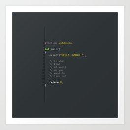 programmer's choice, C nerd. Art Print