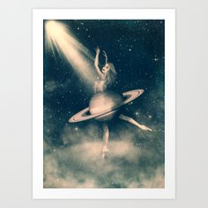 When Saturn Starts Dancing Art Print