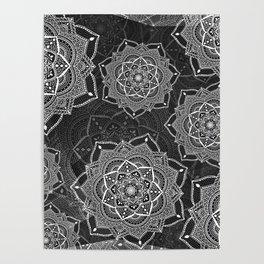 Black mandalas Poster
