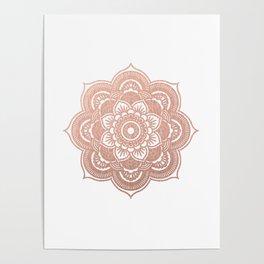 Rose gold mandala Poster