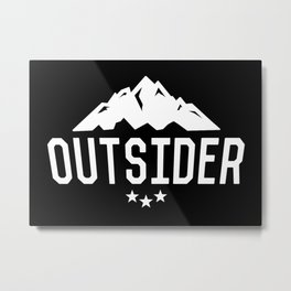 OUTSIDER (WHITE) Metal Print