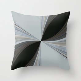 Brown and Grey Tones of Eucalyptus Swirl Pattern Throw Pillow
