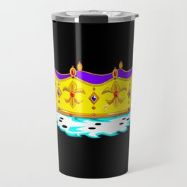 A Royal Gold Crown with Black Background Travel Mug