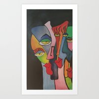 faces Art Prints featuring faces by loomy
